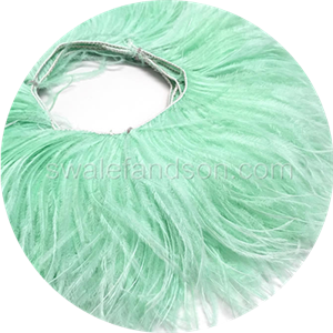 White Ostrich Feather Fringe | Ostrich Feathers Wholesale