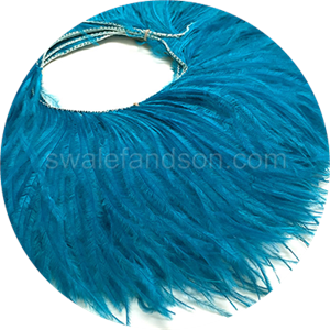 Blue Ostrich Feather Fringe | Ostrich Feathers Wholesale