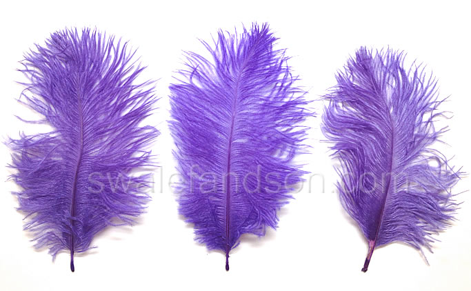 Purple Ostrich Belly Feathers  | Wholesale Ostrich Feathers
