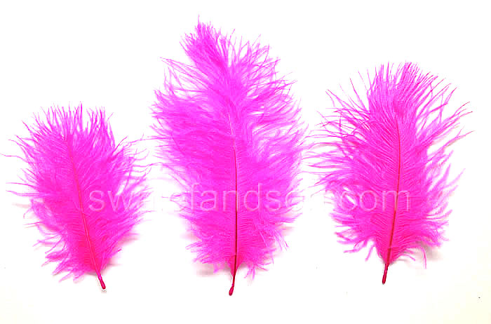 Fuchsia Ostrich Belly Feathers | Ostrich Feathers Wholesale